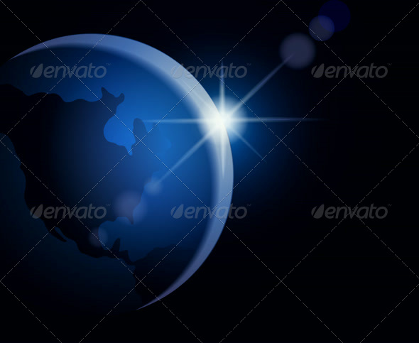 GraphicRiver Rising Sun Over the Earth 4125847