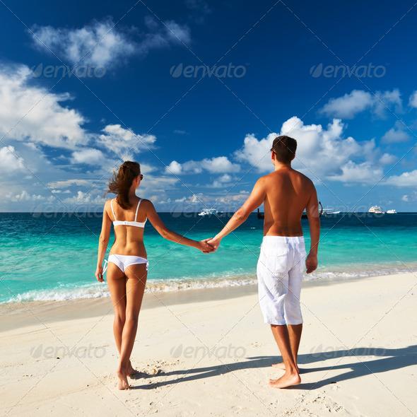 PhotoDune Couple on a beach at Maldives 4229631