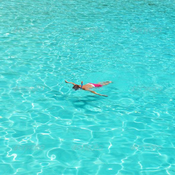 PhotoDune Man snorkeling 4229632