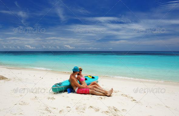 PhotoDune Couple on a beach 4229636