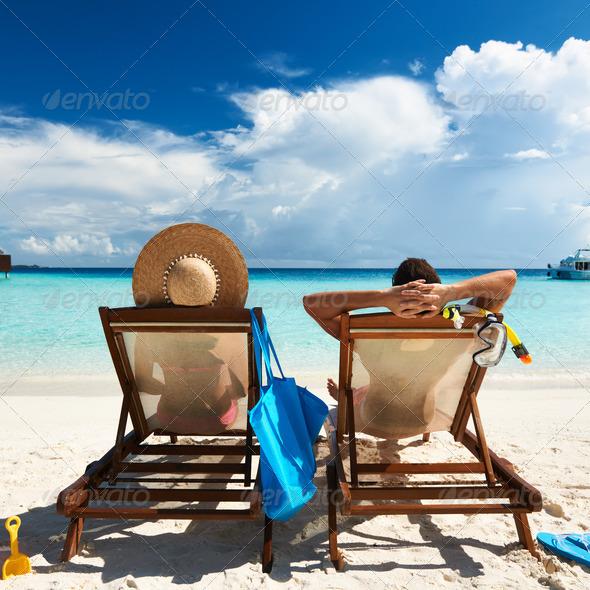 PhotoDune Couple on a beach 4229637