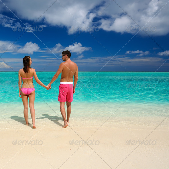 PhotoDune Couple on a beach at Maldives 4229643