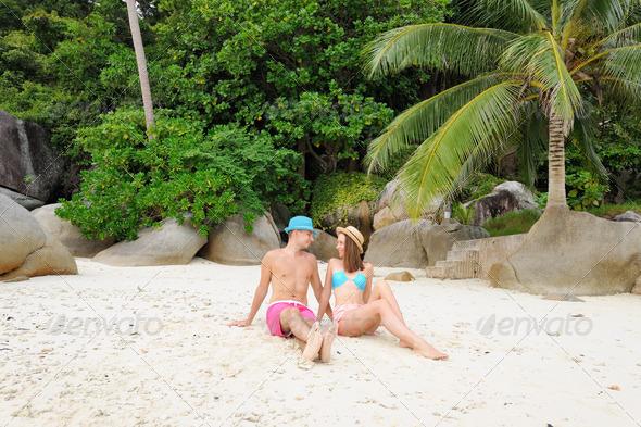 PhotoDune Couple on a beach 4229680