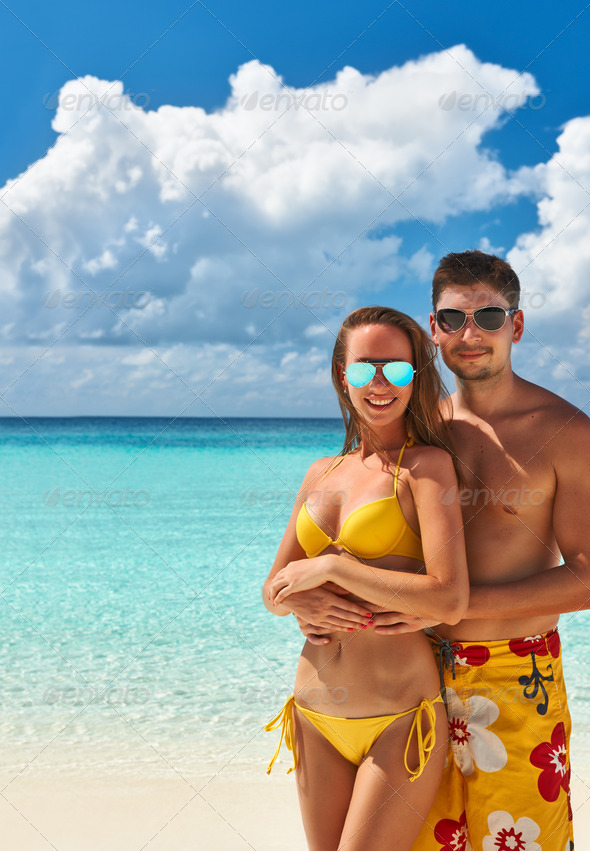 PhotoDune Couple on a beach at Maldives 4229681