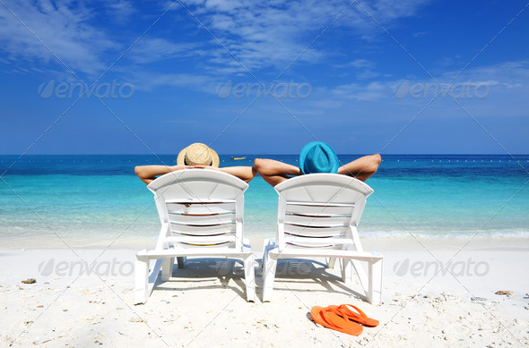 PhotoDune Couple on a beach 4229691
