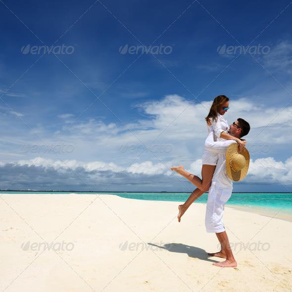 PhotoDune Couple on a beach at Maldives 4229694