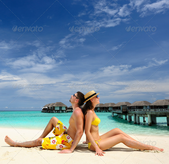 PhotoDune Couple on a beach at Maldives 4229715