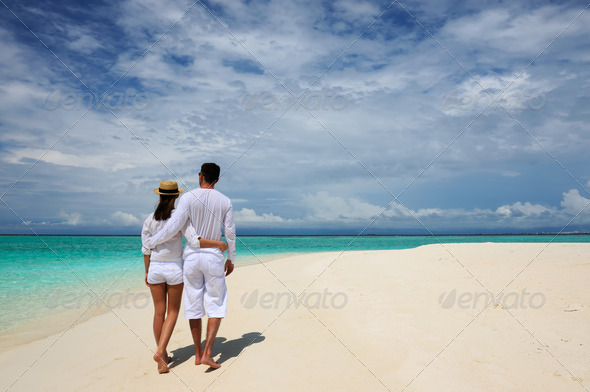 PhotoDune Couple on a beach at Maldives 4229716