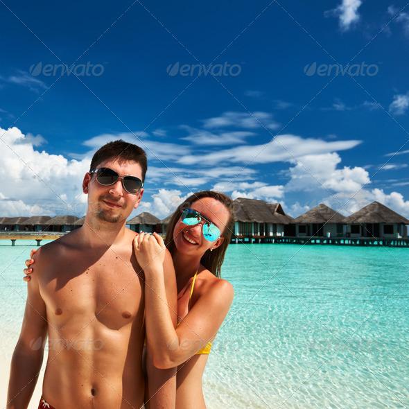 PhotoDune Couple on a beach at Maldives 4229723