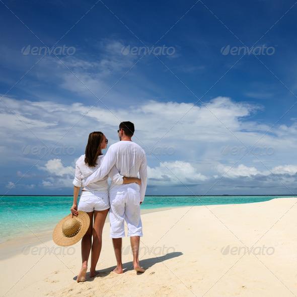 PhotoDune Couple on a beach at Maldives 4229725