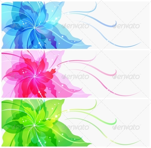 GraphicRiver Triple EPS10 Colorful Flower Background 4228430