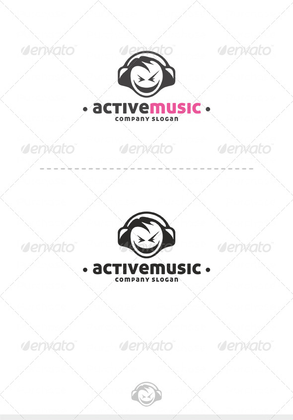 Active Music Logo - Humans Logo Templates