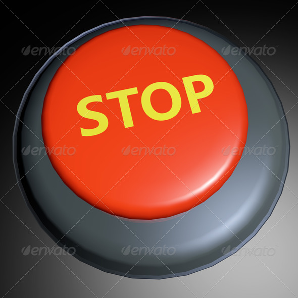 Stop 3D button - Stock Photo - Images