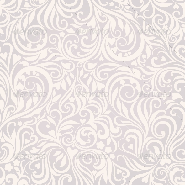 GraphicRiver Seamless Floral Lightgrey Background 4228494