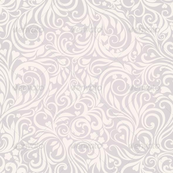 GraphicRiver Seamless Floral Lightgrey Background 4228494