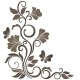 Floral Vector Illustration in Sepia - GraphicRiver Item for Sale