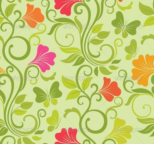 GraphicRiver Floral Vector Seamless Background 4228549