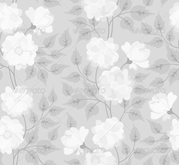 GraphicRiver Light Abstract Seamless Flower Background 4228552