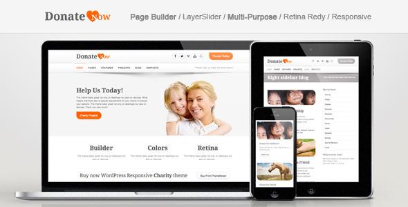 ThemeForest DonateNow WordPress Theme for Charity 3929307