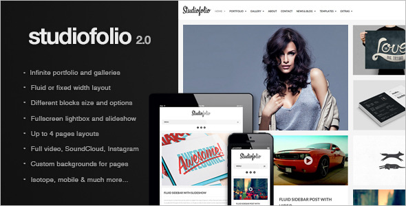 Studiofolio: A Versatile Portfolio and Blog Theme