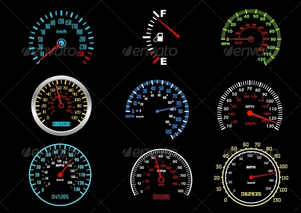 GraphicRiver Car Speedometers 4229438
