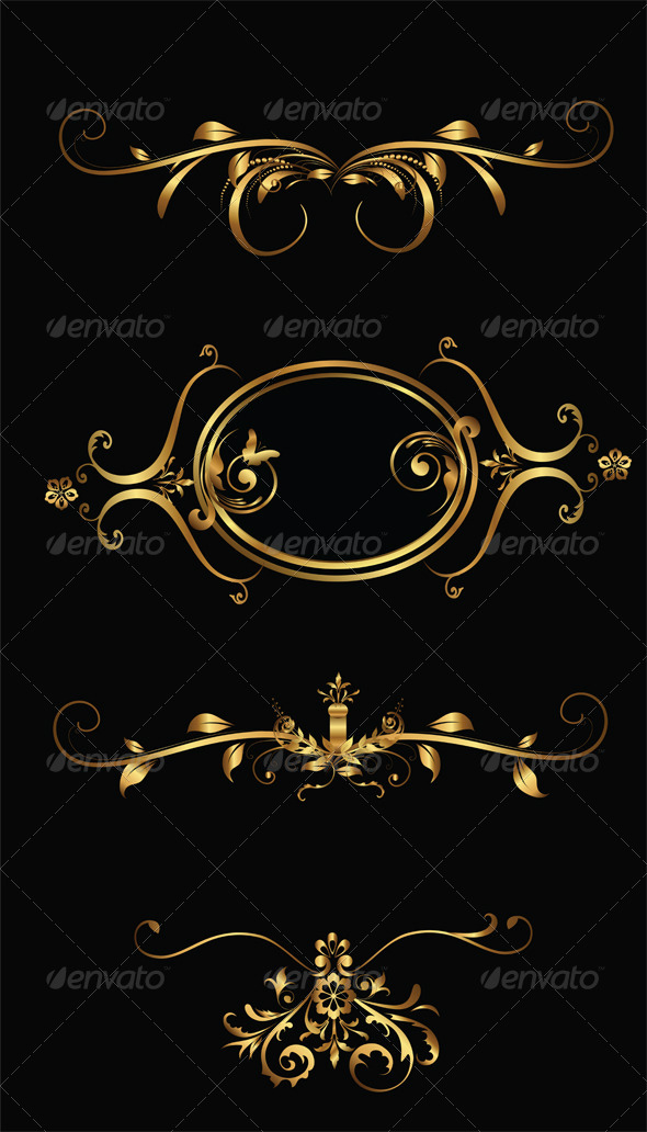 GraphicRiver Vector Gold Frames 4229560