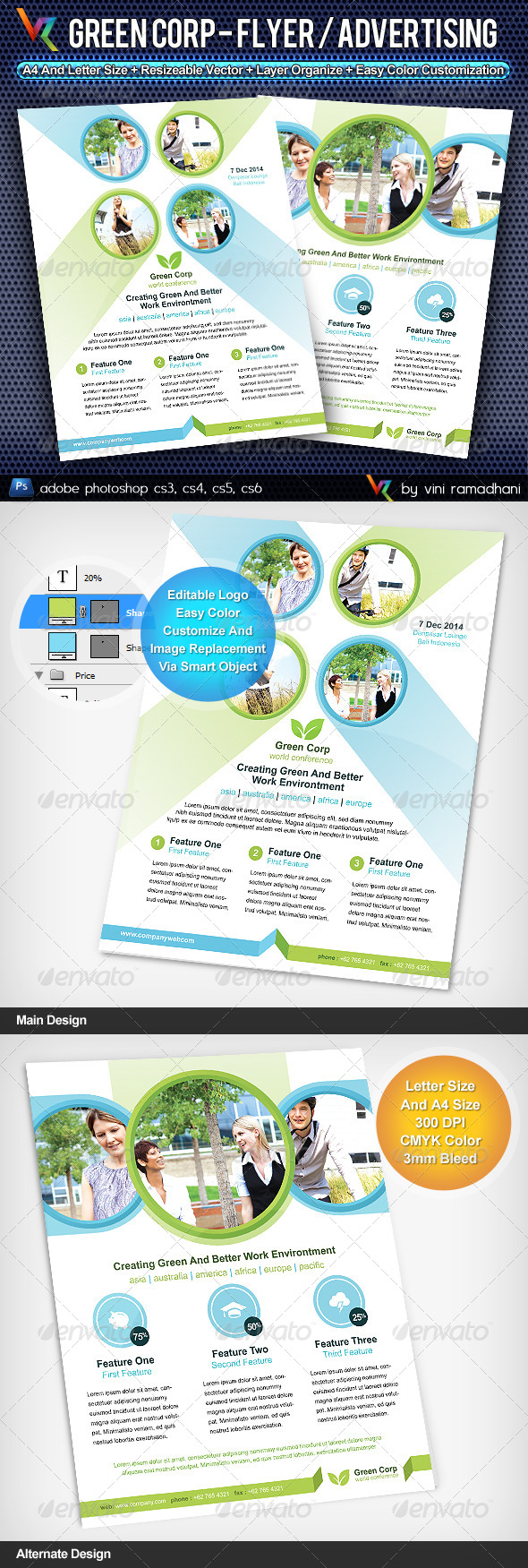 Green Corporate Flyer Or Advertising
