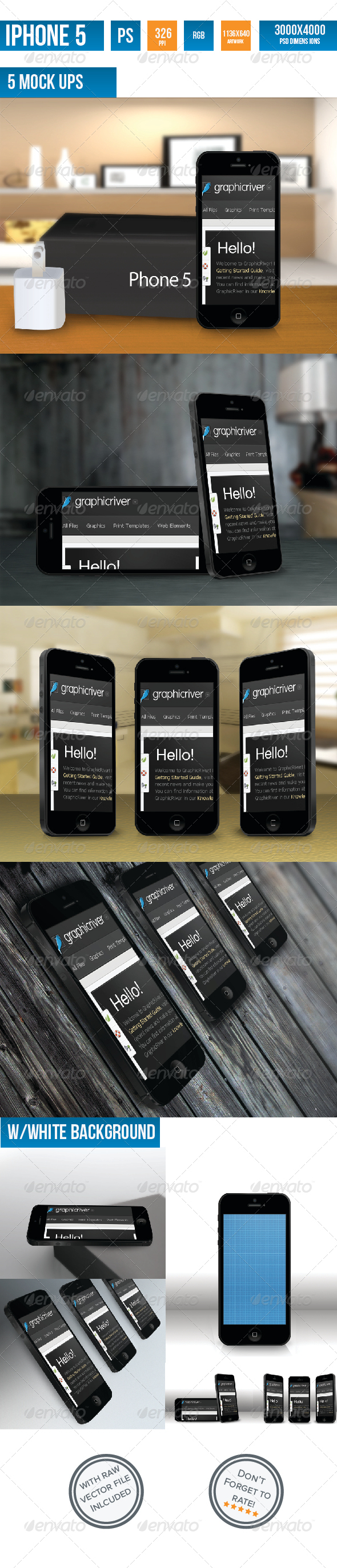 GraphicRiver iPhone 5 Photorealistic Mock-UP 4151133