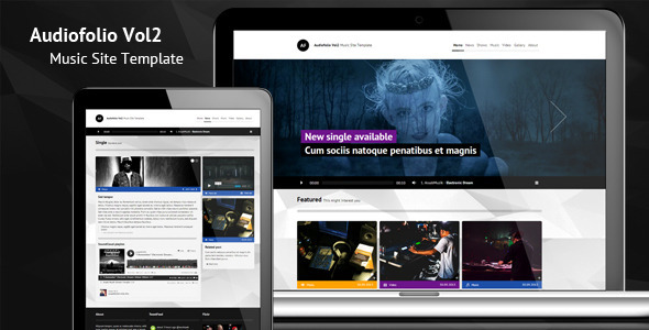 Audiofolio Vol2 - Music Site Template - Entertainment Site Templates