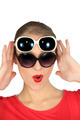 Woman wearing two pairs of sunglasses - PhotoDune Item for Sale