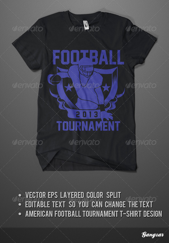 GraphicRiver American Footbal Tournament T-Shirt 4230202