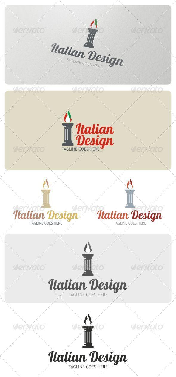 Italian Restaurant Logo Design Italian Design Logo Template