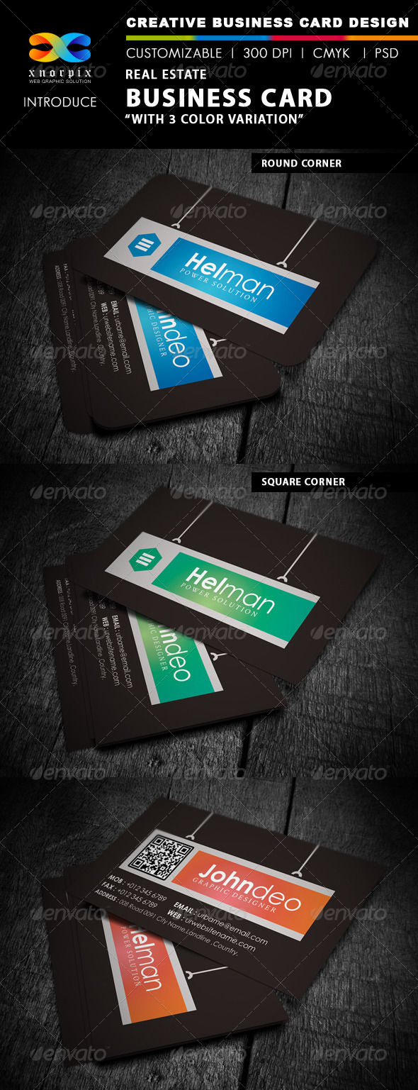 GraphicRiver Real Estate Business Card 4232027
