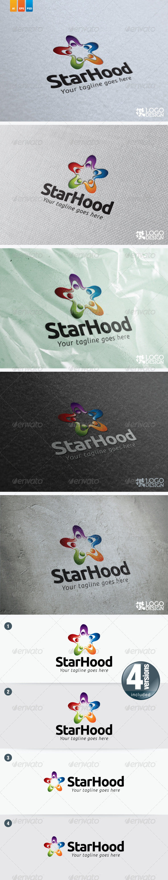 StarHood - Humans Logo Templates