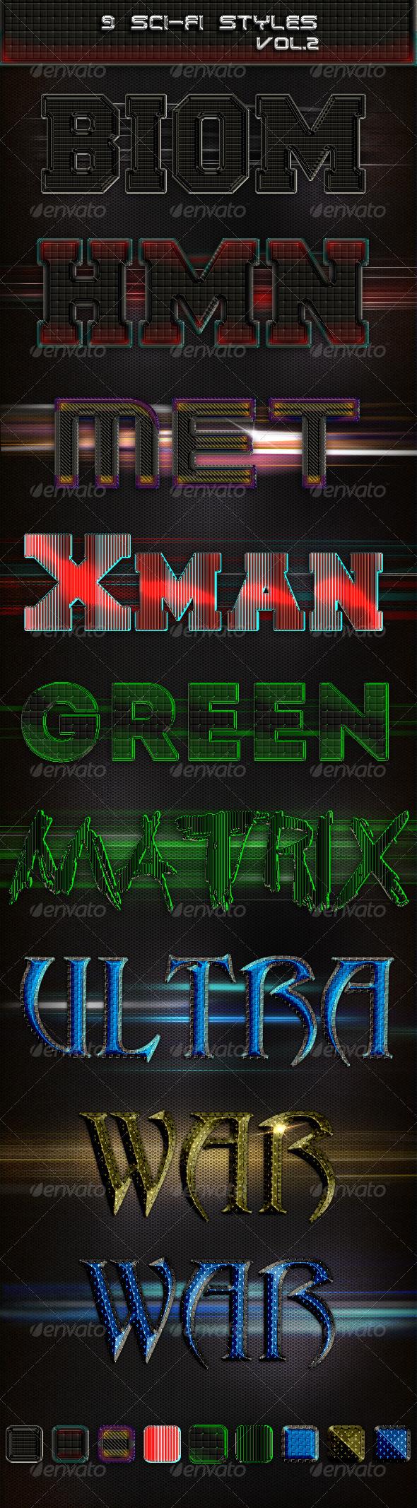 GraphicRiver 9 Sci-Fi Styles vol 2 4232962
