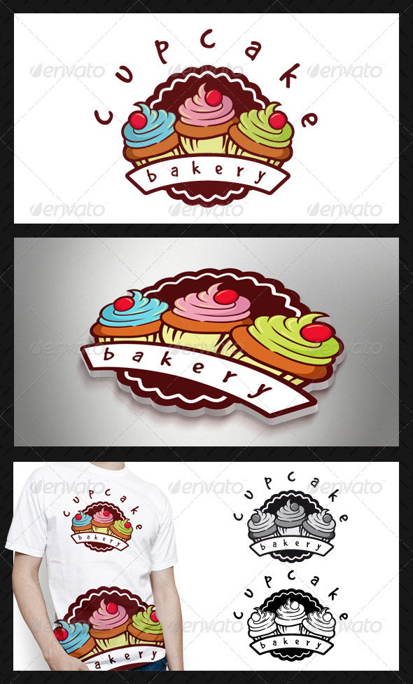 GraphicRiver Cupcake Backery Logo Template 4232975
