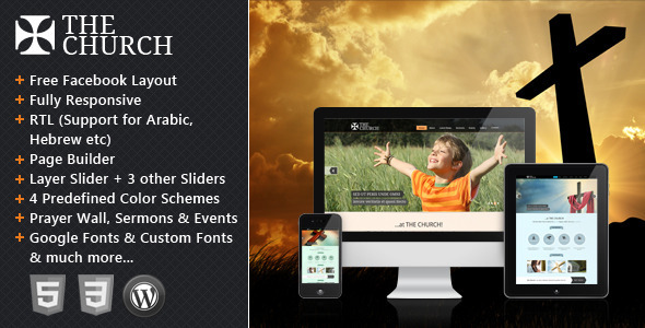 The Church - Responsive WordPress Theme - Churches Nonprofit