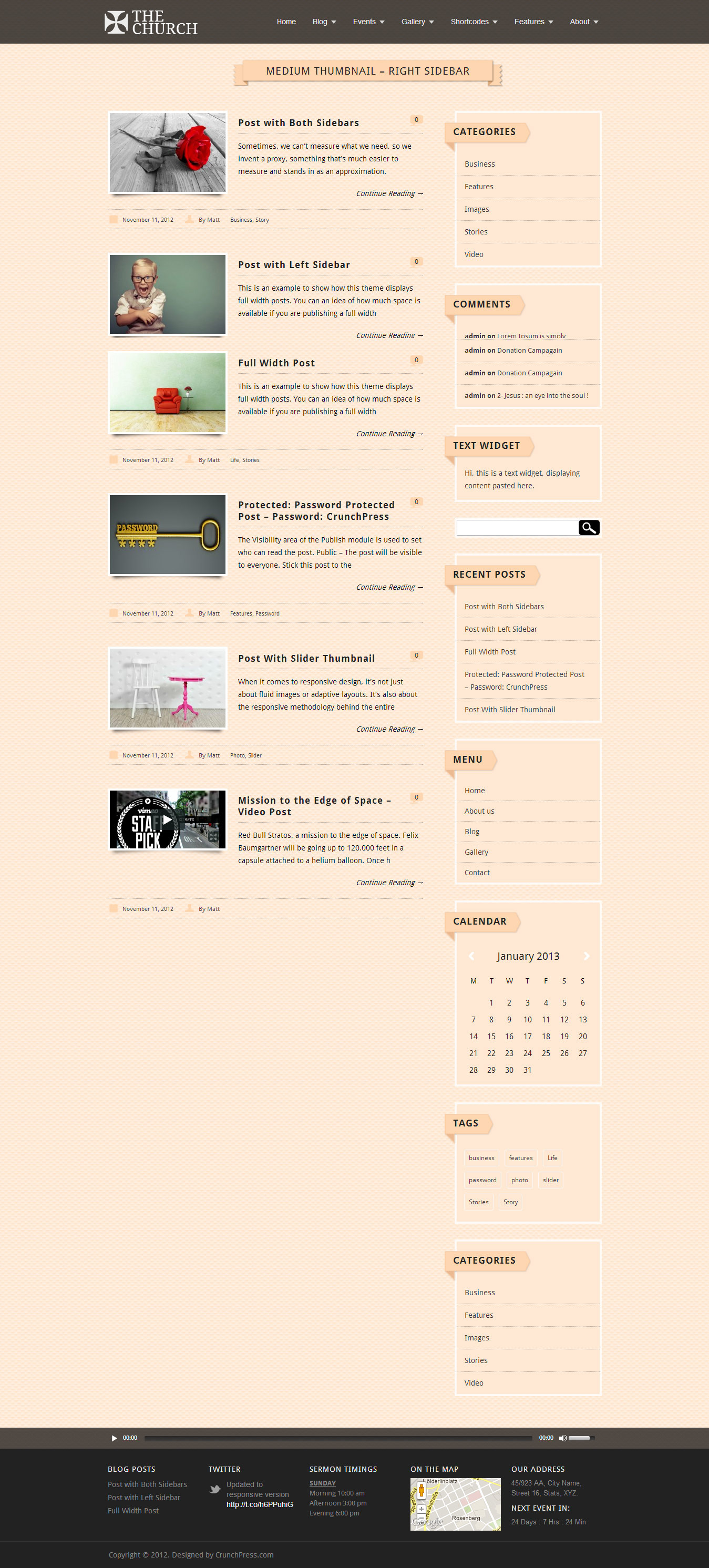 The Church - Responsive WordPress Theme