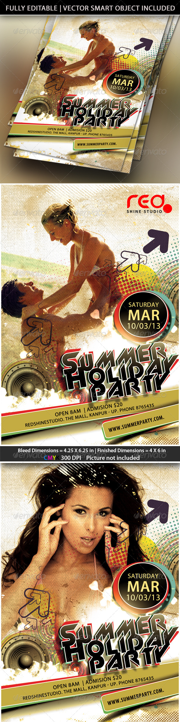 GraphicRiver Summer Holiday Party Flyer 4233370