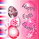 Happy Eggy Easter in pink and purple - GraphicRiver Item for Sale