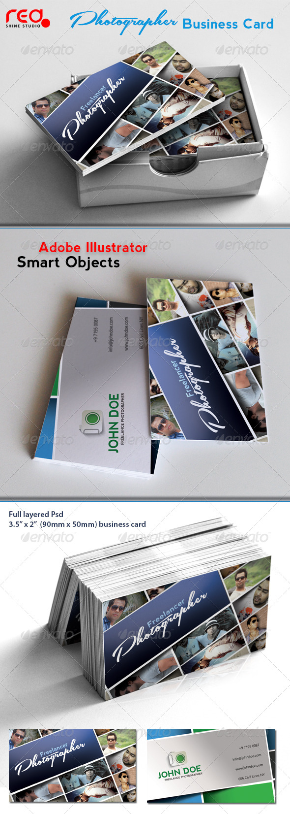 GraphicRiver Freelance Photographer Business Card 4233566
