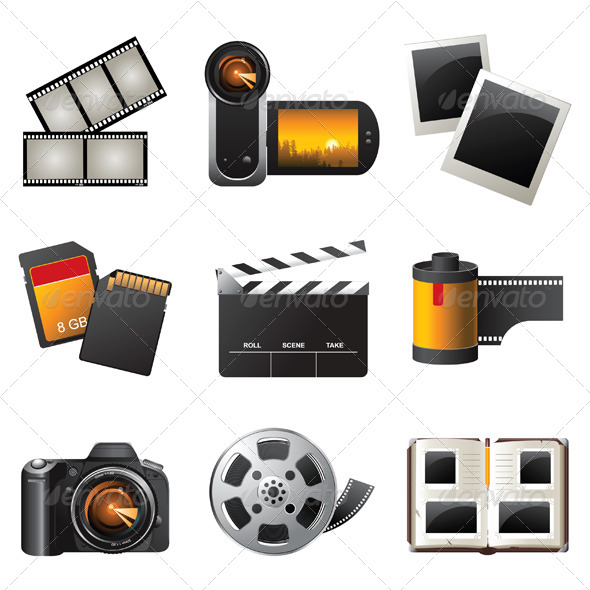 GraphicRiver Photo and Video Icons 4233569