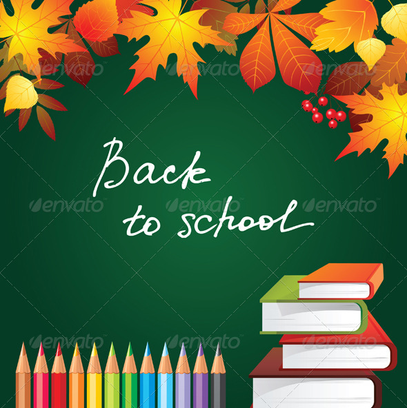 GraphicRiver Back to School Background 4233679