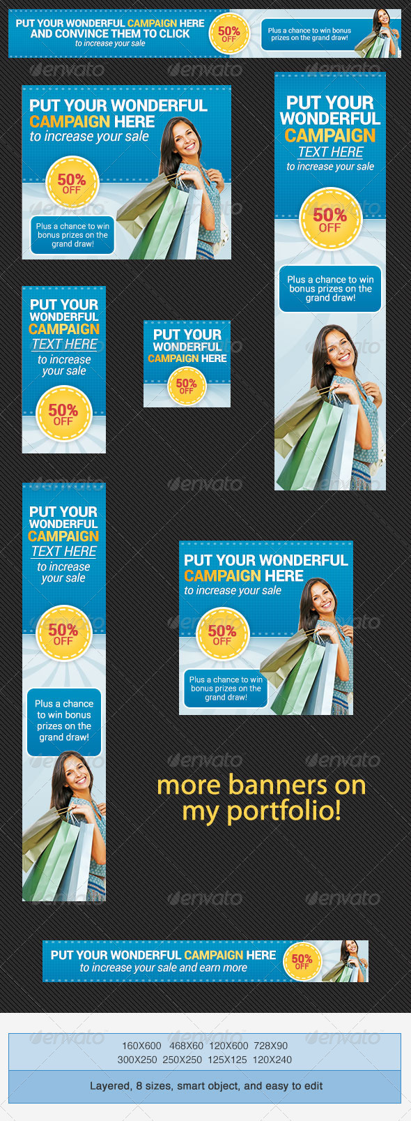 GraphicRiver Shopping Banner Ad Set 4233688