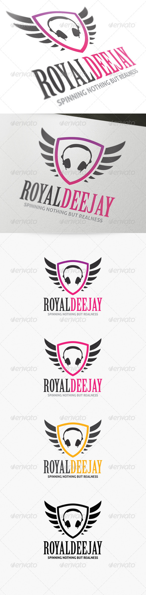 GraphicRiver Royal DJ Logo 4136693