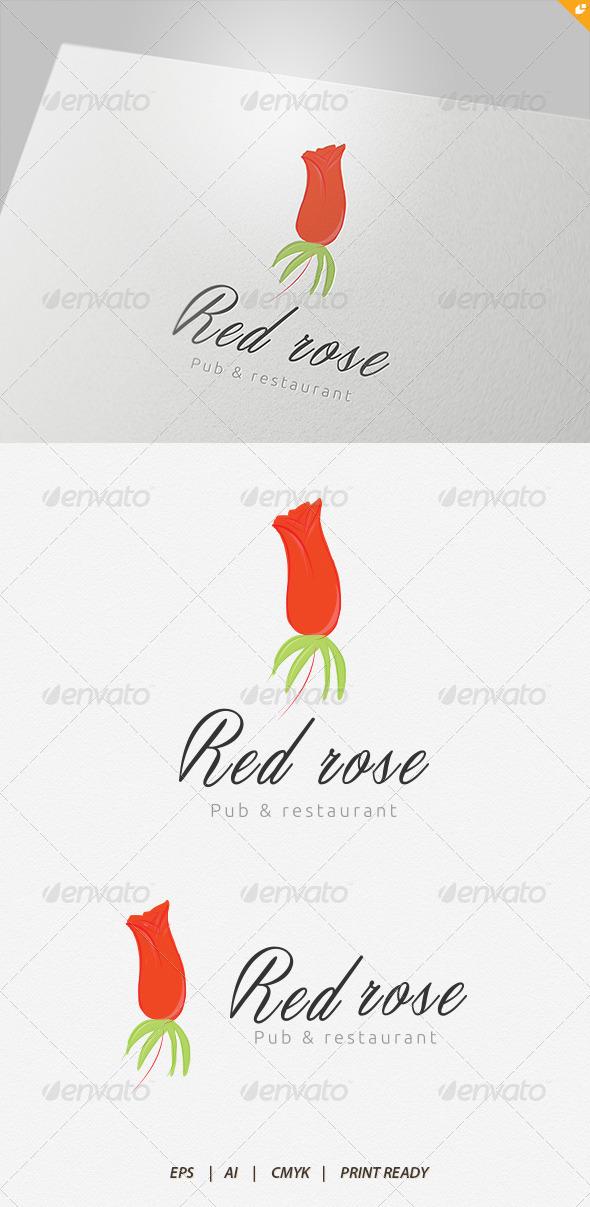 GraphicRiver Red Rose Pub and Restaurant Logo 4233745