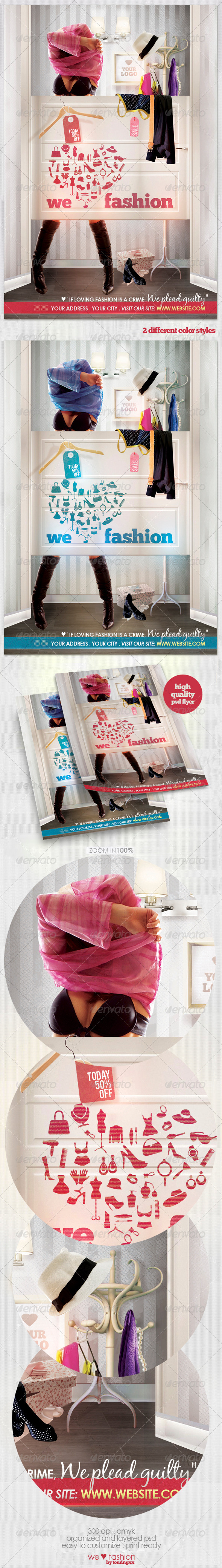 We Love Fashion Flyer Template - Commerce Flyers