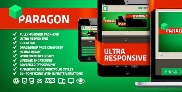 Paragon v1.4.4 | ThemeForest Responsive Portfolio WP Theme