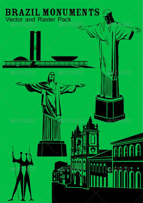 GraphicRiver Brazil Monuments 4234056