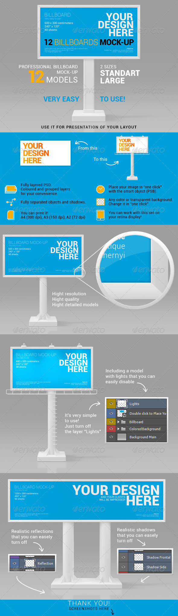 Billboards Mock-up - Signage Print